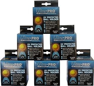 6 Ultra Pro Square Baseball Display Holder w/Stand UV Protection New Lot Set (6 Baseball Cubes)