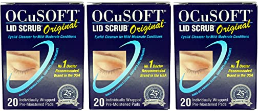 Ocusoft Original Lid Scrub Wipes - 3 x 20 Triple Pack (60 Wipes)