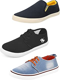 Chevit Men's Combo Pack of 3 Attractive Loafers & Sneakers (Casual Shoes)