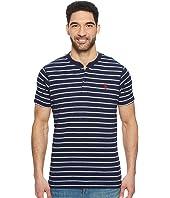 U.S. POLO ASSN. - Short Sleeve Henley Striped T-Shirt