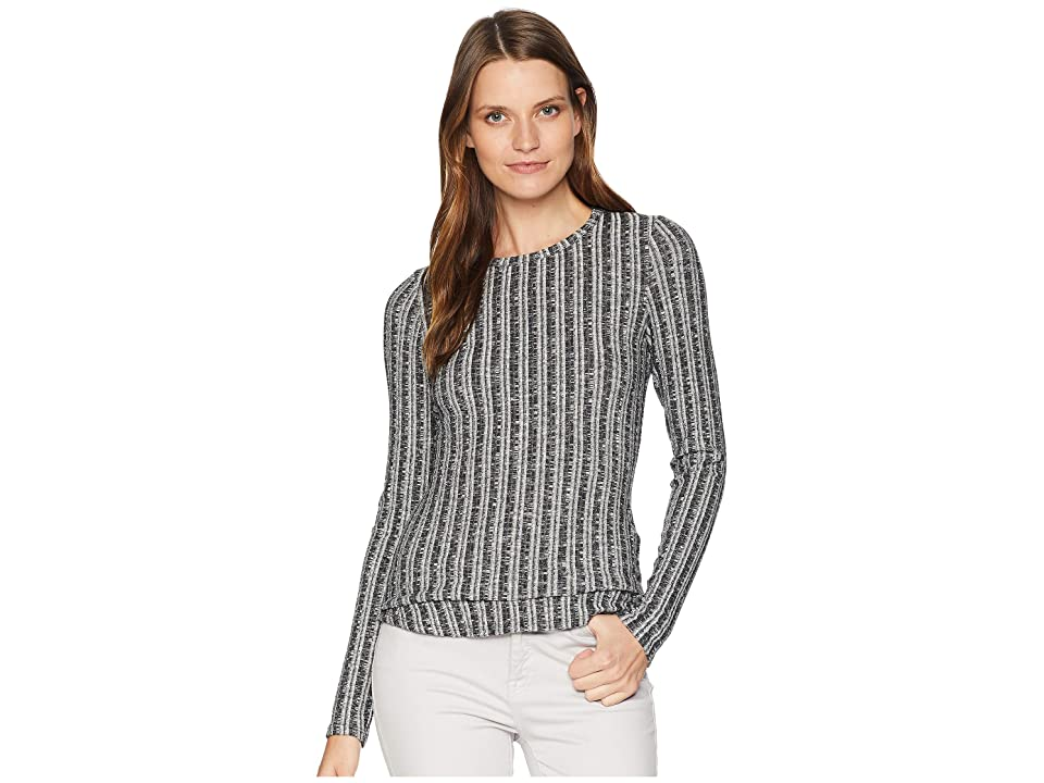 Three Dots Midtown Sweater Top (Black) Women