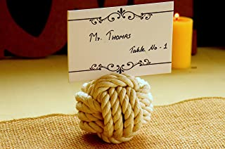 or Navy Blue Rope Table Number Holders 3.5-3.75 inches. Cream Cotton 15-19 Number Holders Smaller knots