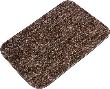 Home Desirica™ Super Soft Microfiber Solid Color Designer Anti Skid Rubber Backing Bathmat/Doormat Pack of 2 (Size 38 cm x 58