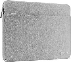 MOSISO Tasche Sleeve Hülle Kompatibel mit 13-13,3 Zoll MacBook Pro, MacBook Air, Notebook,Polyester Gewebe Schützende Horizontal Schutzhülle, Grau