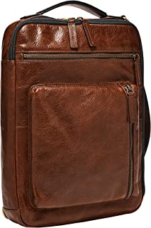 Fossil Buckner Leather 25.4 cms Brown Gym Shoulder Bag (MBG9483222)