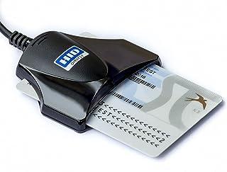 DNI electrónico Lector de Tarjetas Inteligentes Smart Card ID eID USB Omnikey 1021 3021 (negro)
