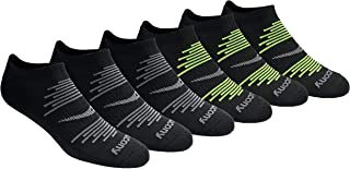 Saucony mens S62009 Saucony Men's 6 Pair Performance Comfort Fit No-show Socks Running Socks