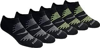 Saucony mens S62009 Saucony Men's 6 Pair Performance Comfort Fit No-show Socks Running Socks - black - Socks Size 9.5-11.5