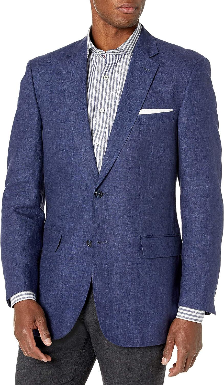 Palm Beach Men's Brock Navy Linen Suit Seprate Jacket