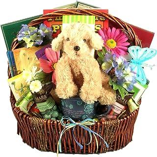Gift Basket Village To Lift Your Spirits - Large Encouragement Gift Basket with Large Mug, Uplifting Books, Plush Puppy an...
