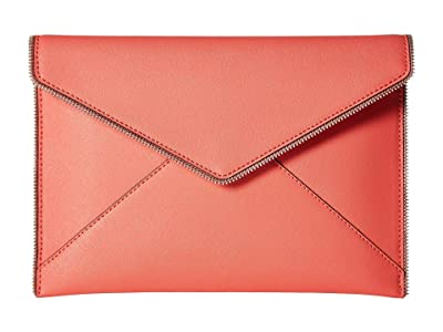 Rebecca Minkoff Leo Clutch (Grapefruit) Clutch Handbags