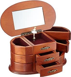 MusicBox Kingdom 16055 Wooden Ballerina Musical Jewelry Box, Playing