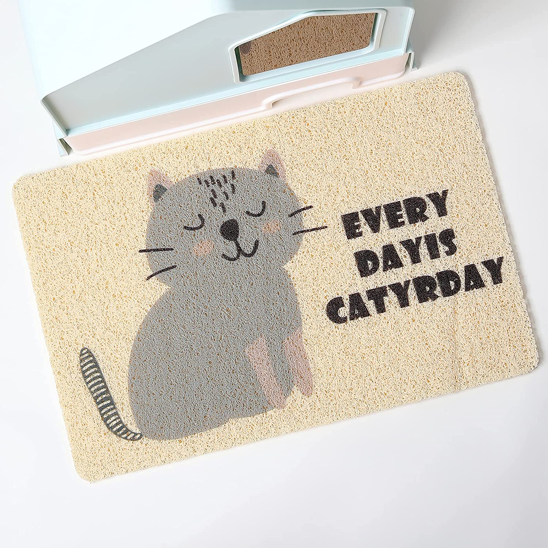 PetEiZi Cat Litter Mat Trap, Pet Food Catching Placemat, Super Cute Easy to Clean 24