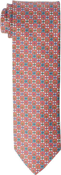 Floral Medallion Print Tie
