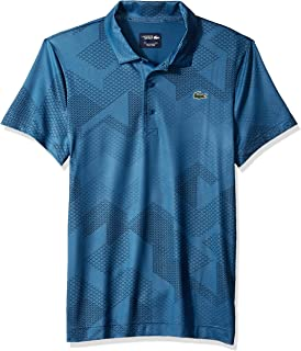 Lacoste Men's Sport Short Sleeve Ultra Dry All Over Print Sublimation Polo
