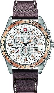 Swiss Military Hanowa - Reloj Analógico para Hombre de Cuarzo con Correa en Cuero 06-4225.04.001.09