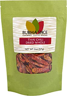 Whole Thai Chili : Spicy : Dried Herb Kosher (2oz)