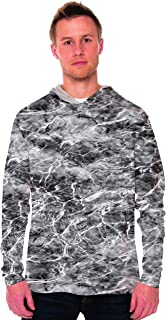 Vapor Apparel Men's UPF 50+ UV Sun Protection Long Sleeve Performance Hoodie for Sports and Outdoor Lifestyle
