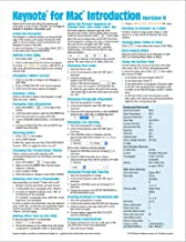 Keynote for Mac Quick Reference Guide, version 9 Introduction (Cheat Sheet of Instructions, Tips & Shortcuts - Laminated Card)