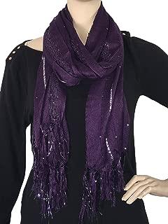 Best pleated metallic scarf Reviews