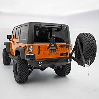 GSI Heavy Duty Rock Crawler Rear Bumper with Tire Carrier and 2