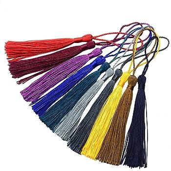 manualidades suave 10 colores Dreamtop hechas a mano marcadores de libros 100 unidades de 13 cm de seda con lazos para hacer joyas