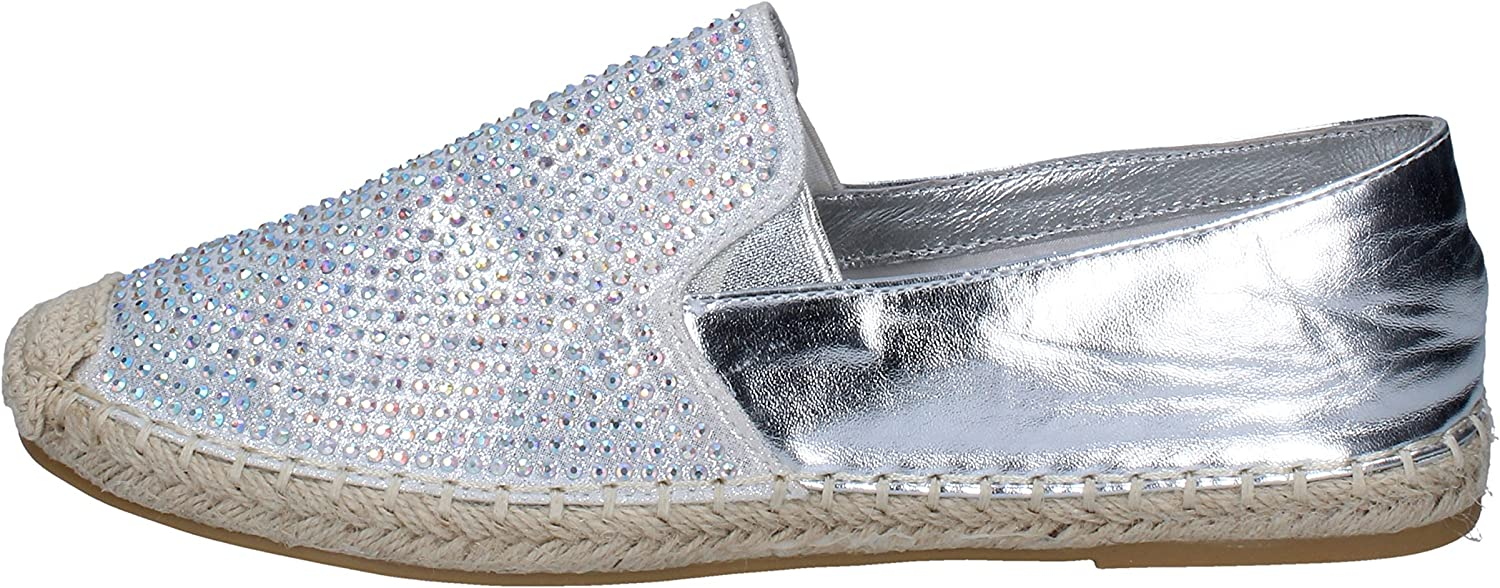 SARA LOPEZ Clogs-and-Mules-shoes Womens Silver