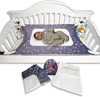 Baby Hammock for Crib Mimics Womb Newborn Bassinet Upgraded Safety Measures Enhanced Material Newborn Infant Nursery Bed by HNG - Essentials (Bonus Laundry Bag) (Gray)