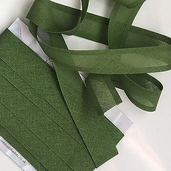 """Top Quality Cotton Binding 10m Green Bias Binding 25mm//1/"""""""
