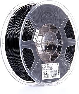eSUN 1.75mm Black PLA PRO (PLA+) 3D Printer Filament 1KG Spool (2.2lbs), Black