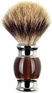 Shaving Brush,Edow Luxury Silvertip Badger Bristle Brush with Heavy Alloy Base and Ergonomic Handle for Any Methods of Shaving.