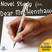 Novel Study Book Unit for Dear Mr. Henshaw by Beverly Cleary. Printable or for Google Drive™ or Google Classroom™