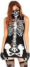 Leg Avenue Women's Skeleton Skull Halloween Garter Dress Costume