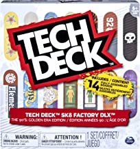 TECH DECK, Sk8 Factory DLX 14 Pack Fingerboards, Golden Era 90's Edition