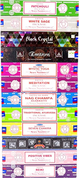 Nag Champa Satya Assorted Top Selling Series 12 Scents Set 2