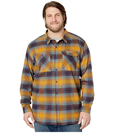 Columbia Big Tall Outdoor Elementstm Stretch Flannel (Burnished Amber Plaid) Men