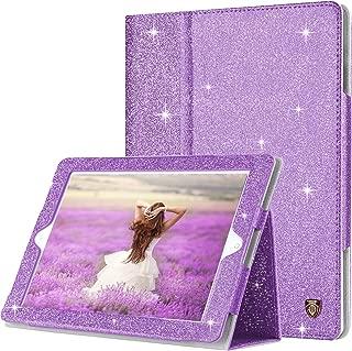 BENTOBEN iPad 2 Case, iPad 3 Case, iPad 4 Case, Glitter Sparkly Slim Lightweight Faux Leather Folio Folding Stand Smart Cover Stylus Holder Auto Wake/Sleep Protective Case for iPad 2/3/4,Purple