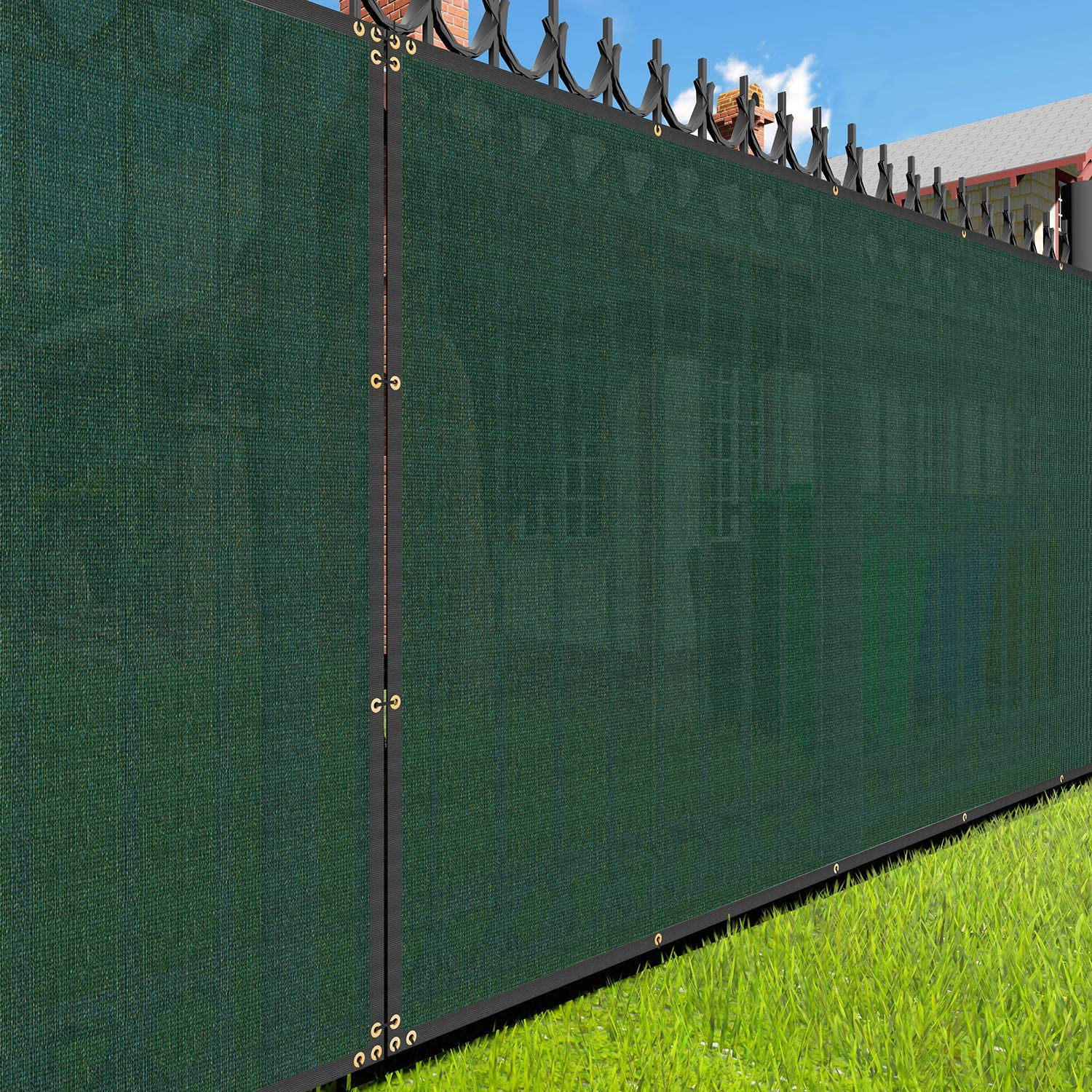 EK Sunrise 4' Challenge the lowest price of Japan x 25' Green Outd Commercial Fence Today's only Privacy Screen