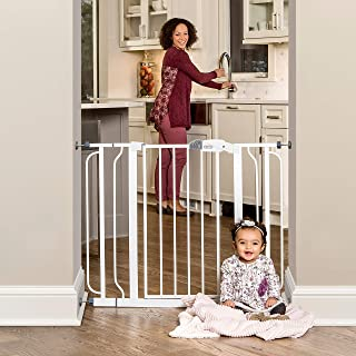 Regalo Easy Step Extra Wide Baby Gate, Includes 4-Inch and 4-Inch Extension Kits, 4 Pack of Pressure Mounts Kit and 4 Pack...
