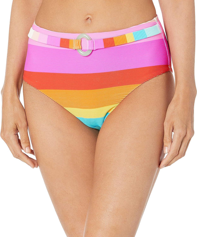 Trina Turk Women's High Waist Hipster Bikini Swimsuit Bottom