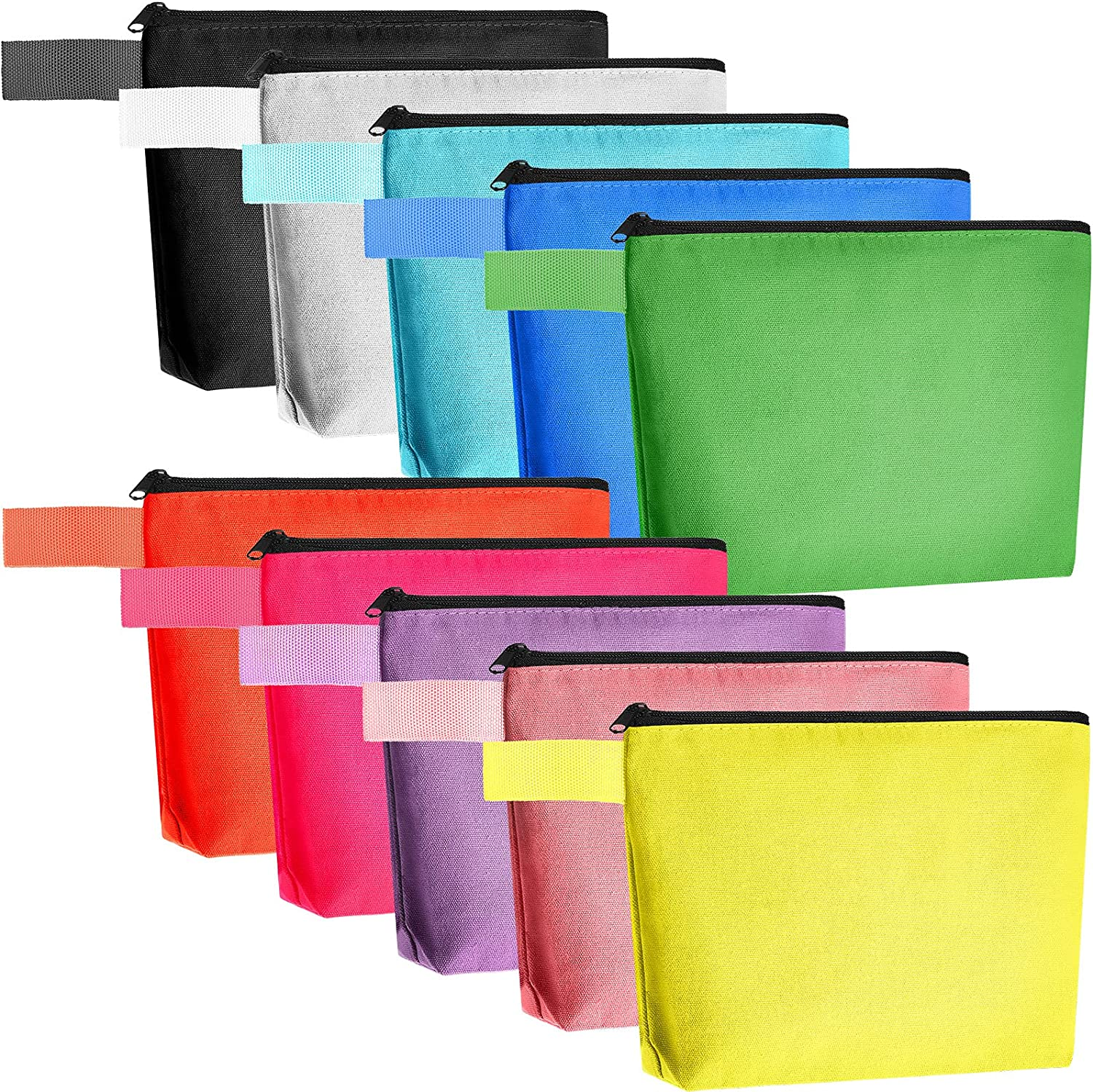 10 Pieces Trust Canvas Cosmetic Super sale period limited Bags Makeup B Plain Pouch Blank