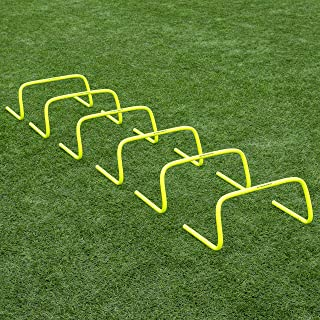 """Net World Sports Forza 6""""/9""""/12"""" Speed Hurdles - New & Improved Design for Agility Training [Set of 6]"""