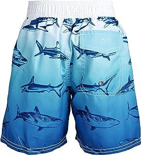 OshKosh Bgosh Baby Boys Ombre Shark Print Swim Trunks 12 Months