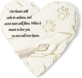 Orchid Valley Pawprint Pet Memorial Stone - Dog Gravestone or Cat Grave Marker; Thoughtful Pet Loss Gift or Keepsake. Waterproof and Weatherproof - The Perfect Headstone or Tombstone