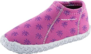 NeoSport Kid's Water & Deck Shoes, Brite Palm, Size 1