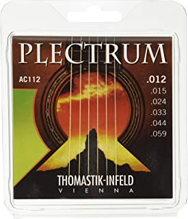 Thomastik-Infeld AC112 Acoustic Guitar Strings: Plectrum Series 6 String Set E, B, G, D, A, E