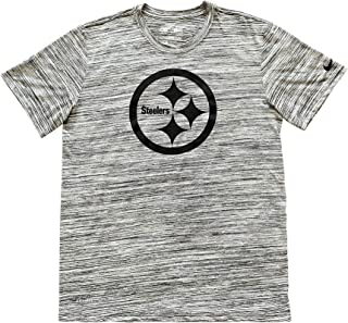 Pittsburgh Steelers Men's Dri-Fit T-Shirt 922214-010 Heathered Grey Black Short Sleeve Shirt