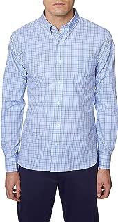 Hickey Freeman Men's Button Down Shirt- Modern Regular Fit Long Sleeve Shirt