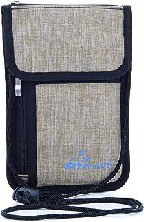 首下げ パスポートホルダー スキミング防止 パスポートケース 海外旅行 便利グッズ 防犯対策 ネックポーチ セキュリティケース 貴重品入れ iPhone 8 Plus(5.5 inch)対応 防水加工 ナイロン