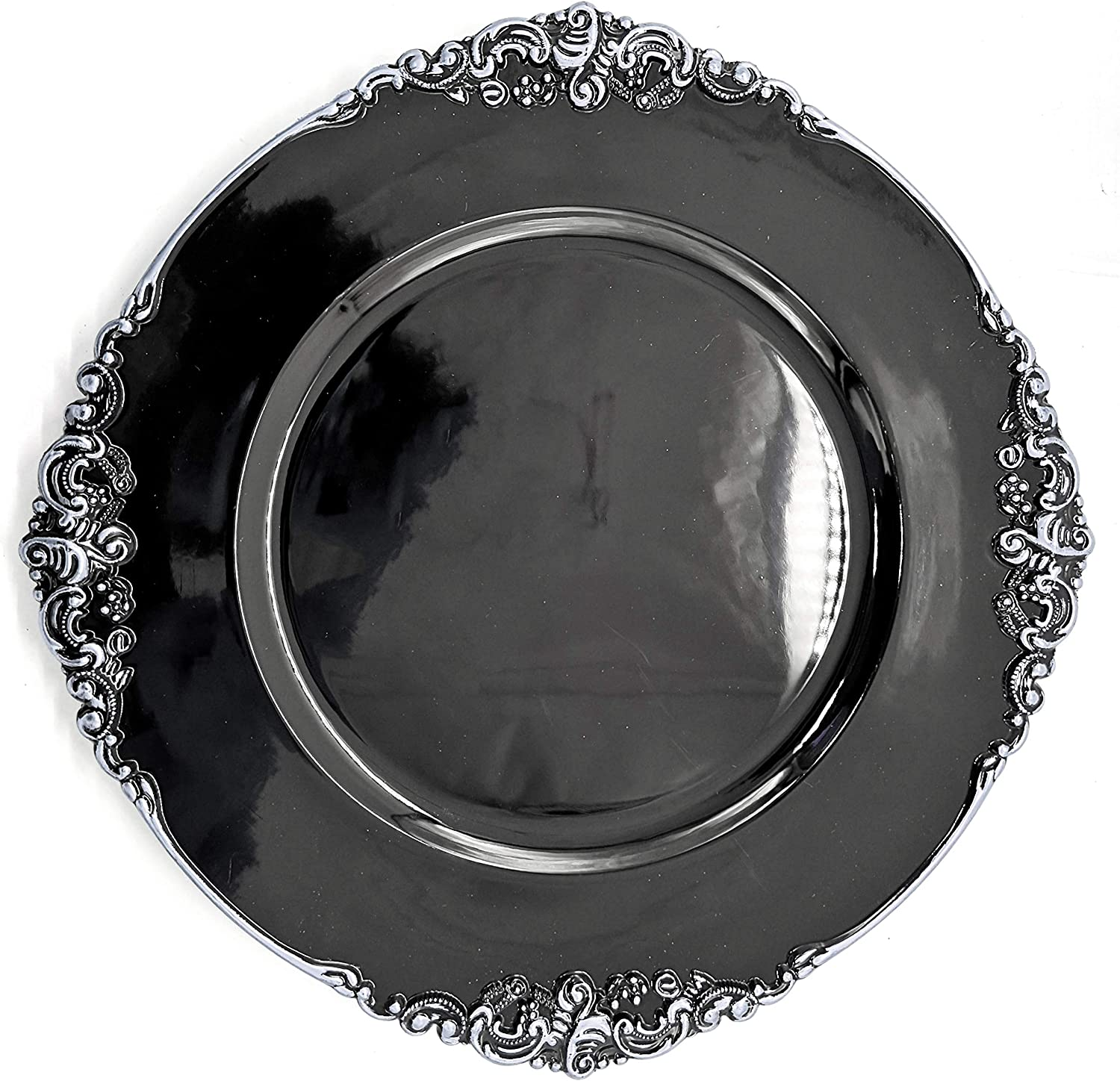 Allgala 13-Inch 6-Pack Heavy Round Fees free!! Quality Charger Classic Plates-Floral